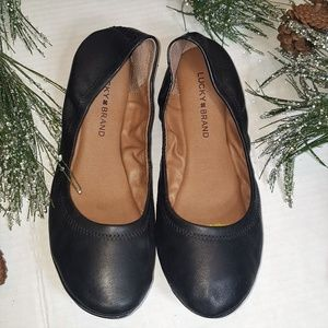"""Lucky Brand """"Emmie"""" Leather Ballet Flats"""